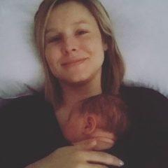 クリスティン・ベル 次女の3歳の誕生日を祝し出産直前のショットを公開