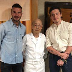 ベッカム親子、現在東京で羨ましすぎる日本食を堪能中
