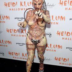 ハロウィンクイーンのハイディ・クルム、今年の仮装は閲覧注意⁉︎